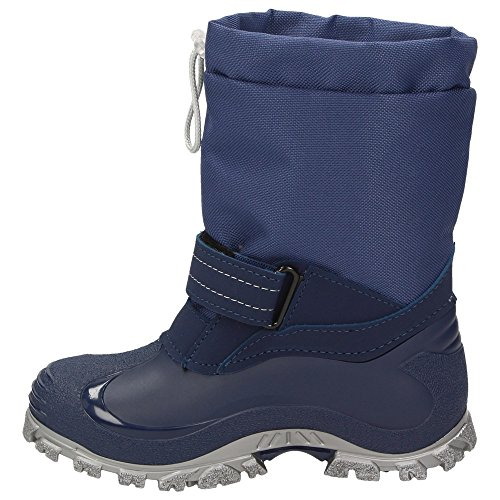BOWS Robin- Jungen Mädchen Schuhe Kinder Schnee Winter Stiefel Winter Boots Gefüttert Wasserdicht Wasserabweisend Phthalat-Frei Marineblau