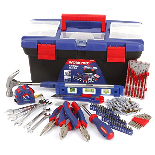 WORKPRO W009002A 170-Piece Home Tool Set in Plastic Box