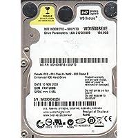 WD1600BEVE-00UYT0, DCM FAYTJHBB, Western Digital 160GB IDE 2.5 Hard Drive
