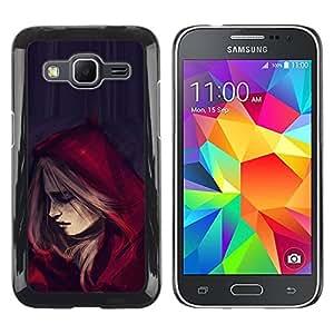Paccase / SLIM PC / Aliminium Casa Carcasa Funda Case Cover - Riding Hood Cape Fashion Woman - Samsung Galaxy Core Prime SM-G360
