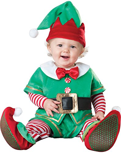 Elf Infant Costumes (Gamery Santa Reindeer Snowman Christmas Costume for Kids Baby Girl Boy Infant Toddler Cosplay Elf 10-12 Months)
