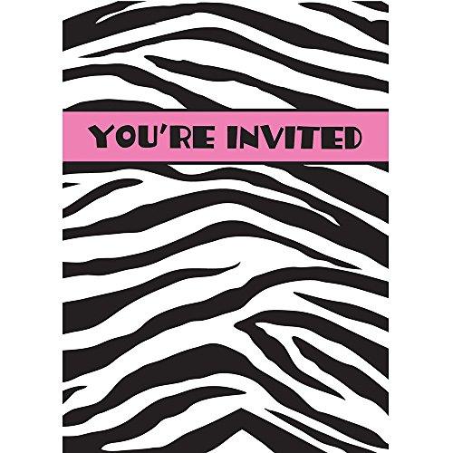 Zebra Print Invitations, 8ct
