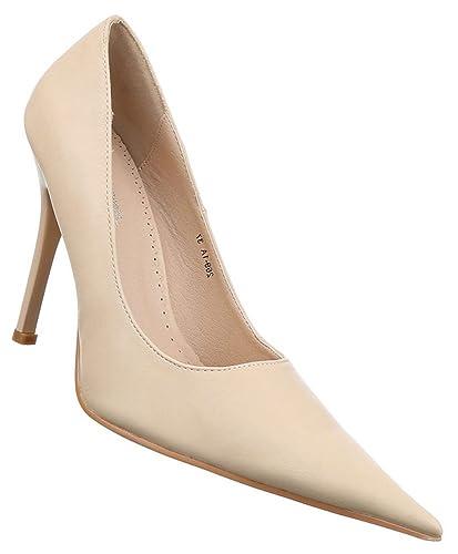 ae7c08aaef9ddd Damen Pumps Schuhe High Heels Stiletto Abendschuhe Stiletto Creme 40   Amazon.de  Schuhe   Handtaschen