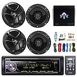 Pioneer DEHX6900BT CD/MP3 AUX Bluetooth Remote Receiver, 4X JVC CSJ620 6.5'' 2-Way Coaxial Speakers, Enrock 8 Gauge Complete Amplifier Wiring Install Kit, Autotek TA10504 1000 Watt 4 Channel Amplifier