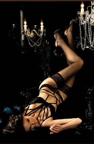 Exklusive manejando Medias (autosujeción) con pheromonen infundiert, zart parfümiert bailarina 800. negro