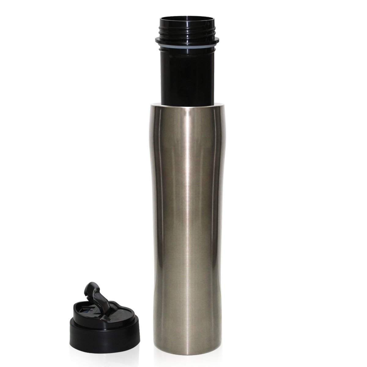 i Cafilas The Original Portable French Press Coffee Maker | Premium Stainless Steel | Vacuum Insulated Travel Mug | Hot & Cold Brew (12 oz) Durability Easy Use& Clean French Presses (Silver)