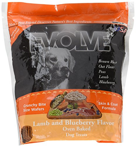 Evolve Lamb & Blueberry Wafers Dog Treats, Small