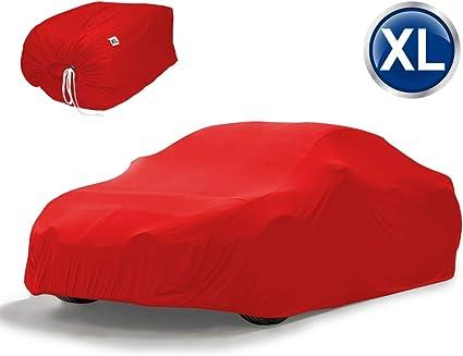 ecd germany housse de protection interieur voiture dimension xl 533 x 178 x 119cm rouge respirant lavable en satin stretch bache