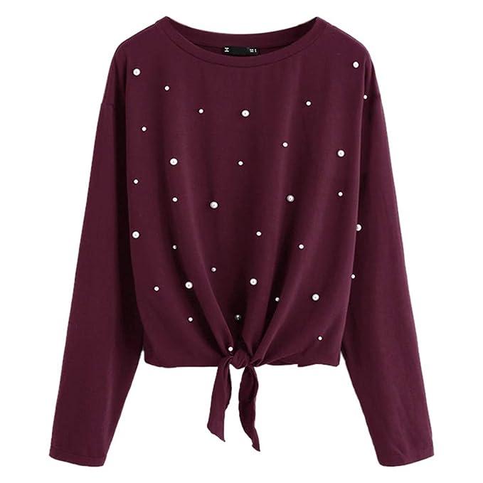 Sweatshirts Hoodies Shirt für Damen Oberteil Hemd Locker Pullover Sport  Freizeit Bauchfrei Stickerei Kleidung O-Neck Einfarbig Cropped Blumenmuster  ... abddc4fdff