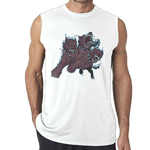 Sports A Three-Headed Fierce Wolf Cotton Sleeveless Tanks Top T-Shirts Fit Mens ()