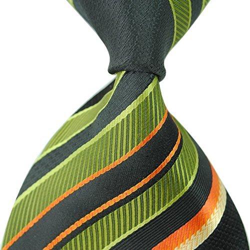 Di Uomini Nozze Degli Mendeng Cravatta Jaquard Verde Righe Seta Tessuto Di xnPS0v