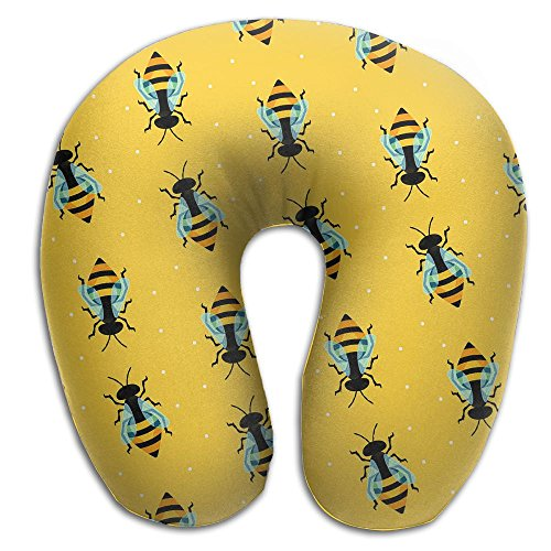 ow Bumblebee Battle Memory Foam Soft Neck Portable Pillow For Flight Train Car And Office Naps Bed Pillows ()