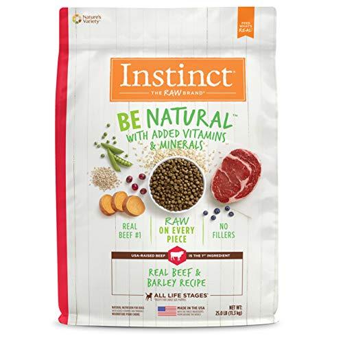 Instinct Be Natural Real Beef & Barley Recipe Natural Dry Dog Food by Nature's Variety, 25 lb. Bag