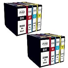 Ouguan 8 Pack PGI 2200XL PGI-2200 XL ( B/C/M/Y ) Compatible Ink Cartridge for MAXIFY IB4020 MB5020 MB5320 Printer 2SET
