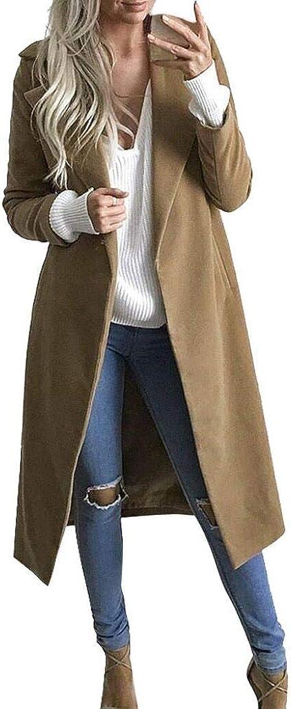 Overdose Invierno Mejor Venta Mujeres CáLido Abrigo Largo Solapa Moda SeñOra Modelo Parka Jacket Cardigan Overcoat Outwear