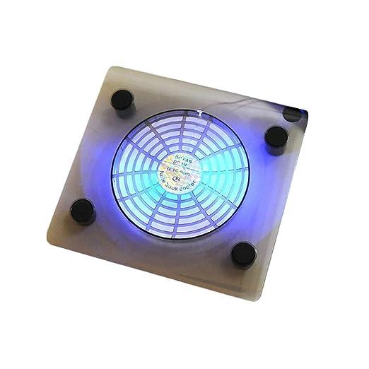 Lorsoul USB Notebook Cooler luz LED Azul del disipador de ...