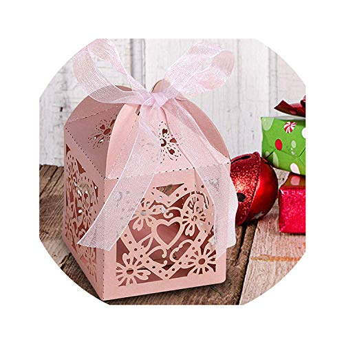 (200pcs/lot Jewelry Sets Display Box Multi-Color Necklace Earrings Ring Box 5x5x8 Packaging Gift Box with Sponge & Satin Ribbon,5)