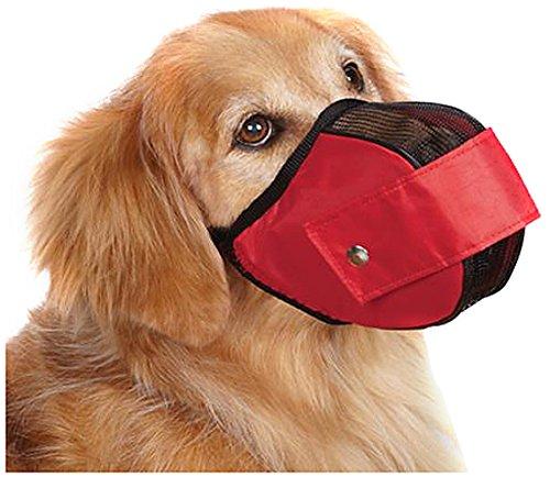 Guardian Gear Cordura Nylon Fabric Mesh Dog Muzzle, X-Large, 14-1/2-Inch, Red