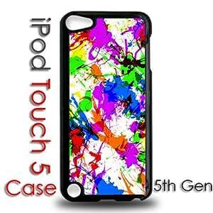 IPod 5 Touch Black Plastic Case - Paint Splatters Colorful