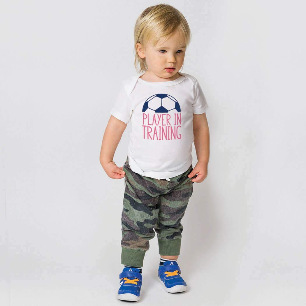 Colors /& Sizes Player in Training Soccer Baby /& Infant T-Shirts