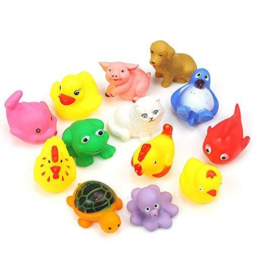 Kmart Mirror (13Pcs Cute Soft Rubber Float Sqeeze Sound Baby Wash Bath Play Animals Toys)