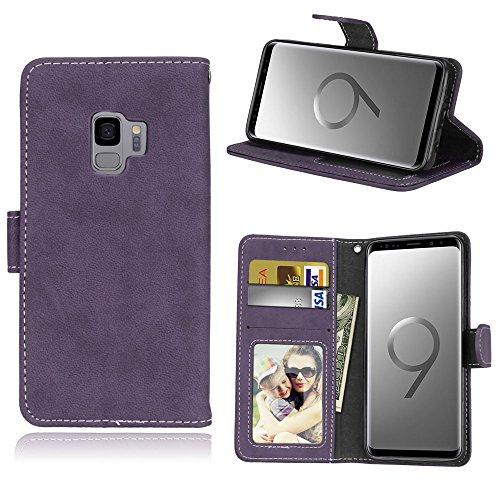 [해외]Samsung Galaxy S9 케이스 다이어리 형 【 huy 】 지갑 형 가죽 케이스 스탠드 기능 카드 넣고 덮개 자석 멋쟁이 선물로 최적 완벽 보호 スマホケ?ス / Samsung Galaxy S9 case Notebook type [Huy] Wallet Type leather case stand function card i...
