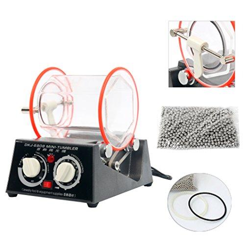 YaeTek 3kg Rotary Mini Tumbler Surface Polisher Jewelry Polishing Finishing Machine (3KG/6.6LB) by YaeTek