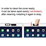 Webcam Cover, Pandawill 3 pack Web Camera Cover slide for Laptop, Desktop, PC, Macboook Pro, iMac, Mac Mini, Computer, Smartphone, protecting Privacy and Securtiy, Strong Adhensive (Black)
