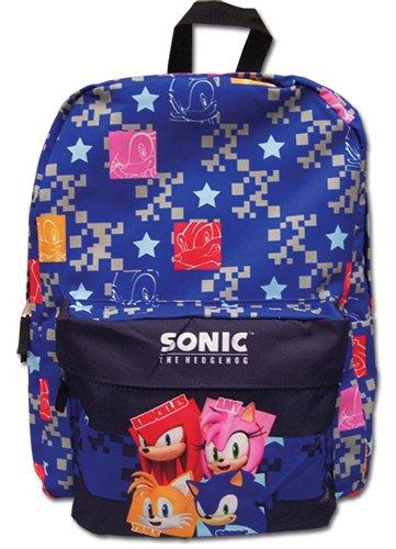(Sonic The Hedgehog Pattern Backpack Bag )