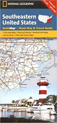 Florida Road Map 2015.Southeastern Usa National Geographic Guide Map National