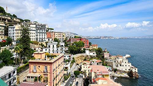 "Photography Poster - Italy, Naples, Beach, Water, Sea, 24""x14"", Gloss Finish"