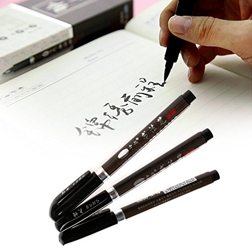 Okokmall Us  3Pcs Chinese Pen Japanese Calligraphy Writing Art Script Painting Tool Brush Set