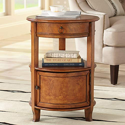 "Kendall 18"" Wide Cherry Finish Small Round Accent Table"
