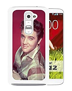 Beautiful Designed Cover Case For LG G2 With Elvis Presley 1 White Phone Case