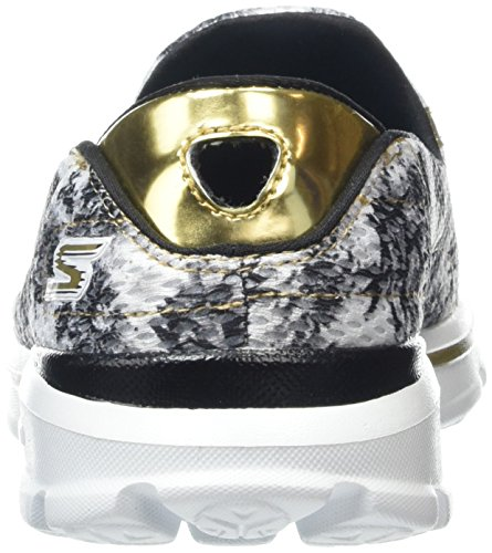 Skechers Damen Go Walk 3Gold Rush Sneakers Weiß (Wbgd)