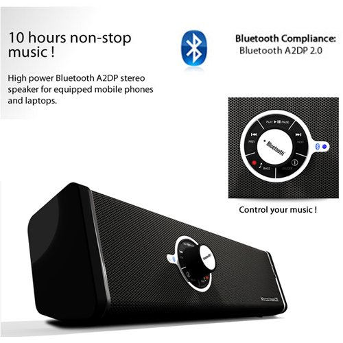 Bluetooth Speaker with Subwoofer For Toshiba AT200 Android 3.2 Honeycomb Tablet ( 16 GB ) + Includes an eBigValue Determination Hand Strap by eBigValue