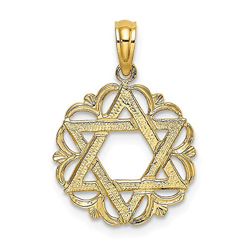 14k Yellow Gold Star Of...