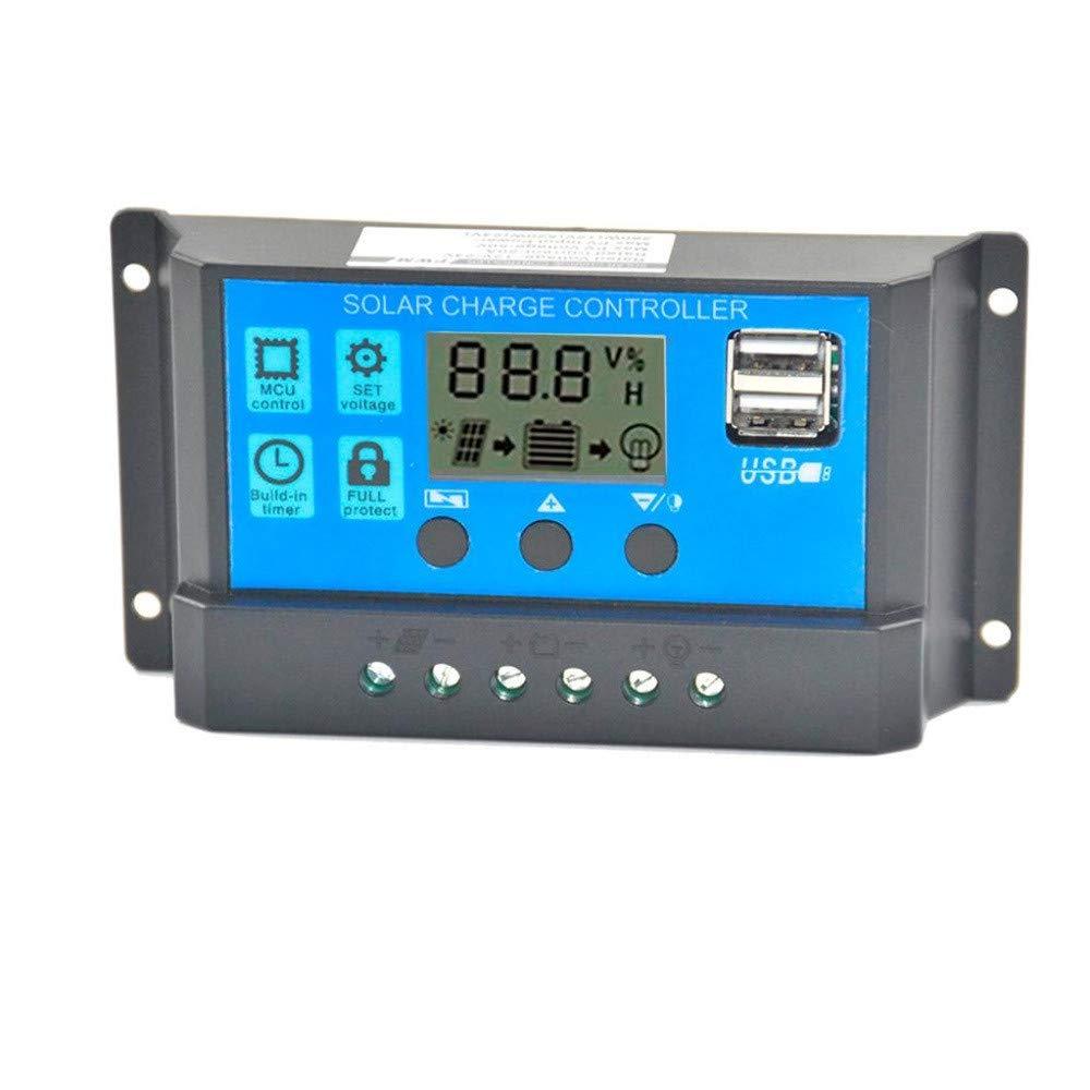 Javpoo 30A 12V-24V Regulador de Panel Solar Controlador de Carga ...
