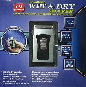 Globatek - Afeitadora (en seco y mojado, tamaño compacto): Amazon ...