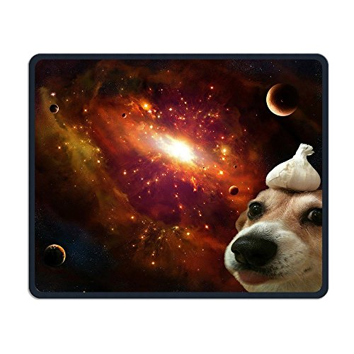Price comparison product image Mouse Pad Dog With A Garlic In Space Rectangle Rubber Mousepad Length 11.81 Width 9.84 Inch Gaming Mouse Pad With Black Lock Edge