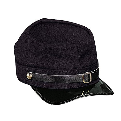 Civil Accessories War American (American Civil War Kepi Adjustable Army Hat Wool (Union (Navy)))