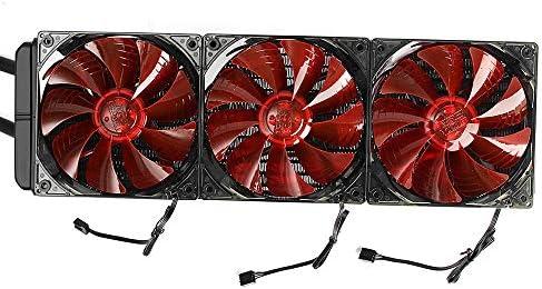 Ventilador de la computadora 12V 3x12cm FansLED CPU Agua líquida ...