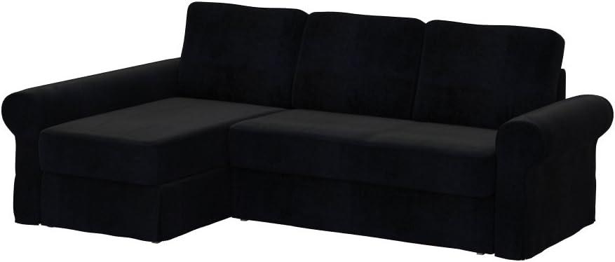 Amazon De Soferia Bezug Fur Ikea Backabro 2er Sofa Mit Recamiere Eco Leather Black