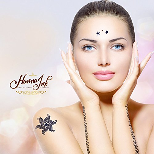 HANNA Temporary Tattoos: 10 Individually Sealed Packages for RESALE w/FREE Application Towel! Ultra-Premium Temporary Metallic Quality lasts over 10 days. NO PEELING & 100% waterproof! -