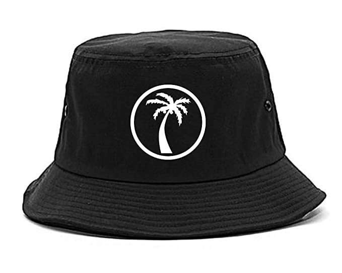 Kings Of NY Palm Tree Chest Logo Mens Bucket Hat Black at Amazon ... 0be84629daf3