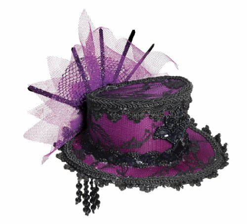 Forum Novelties Women's Steampunk Victorian Mini Top Hat Costume Accessory, Purple, One Size (Costume Victorian)