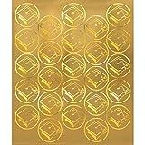 Amscan Grad Metallic Graduation Party Sticker Seals, Gold, 6 1/4 x 5 1/4 (100 Stickers)
