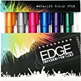 Hair Chalk   Metallic Glitter Temporary Hair Color - Edge Chalkers - Lasts up to 3 Days, No Mess, Built in Sealant, 80 Applications Per Stick, Works on All Hair Colors-6 COUNT.