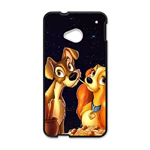 RHGGB lady and tramp Hot sale Phone Case for HTC ONE M7 Black