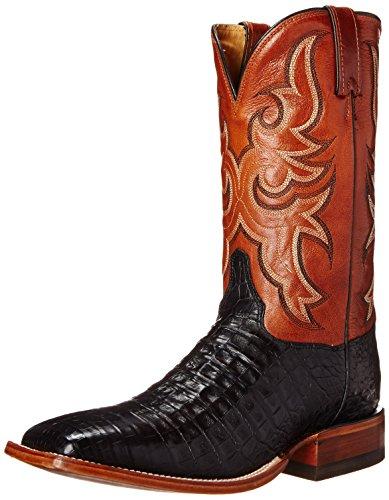 Justin Boots Uomo Da 11 Pollici Collezione Aqha Da Equitazione Nero Caimano Vintage